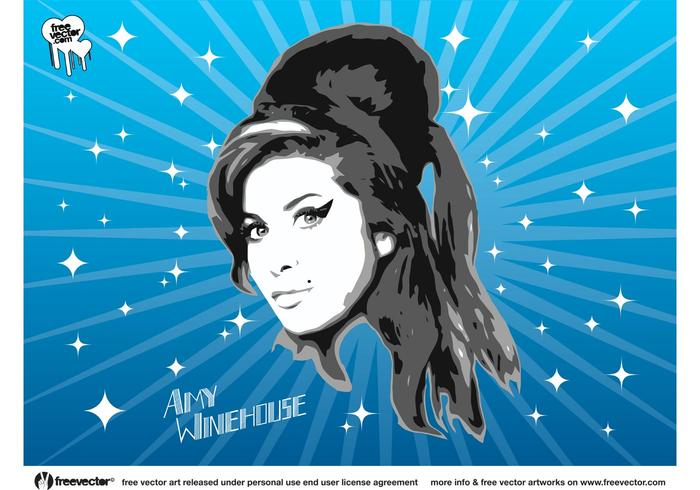 Amy Winehouse gráficos vectoriales vector