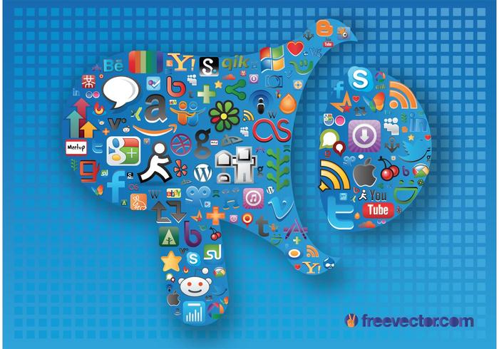 Gráficos de mídia social vetor