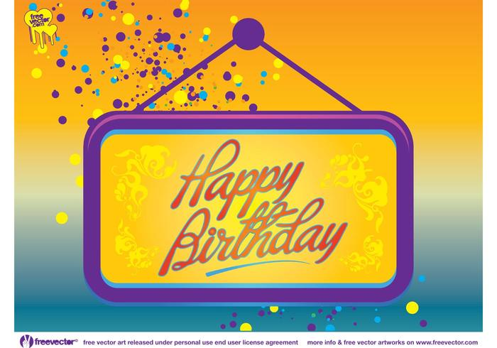 Happy Birthday Card Vector Download Free Vector Art – Happy Birthday Card Design Free