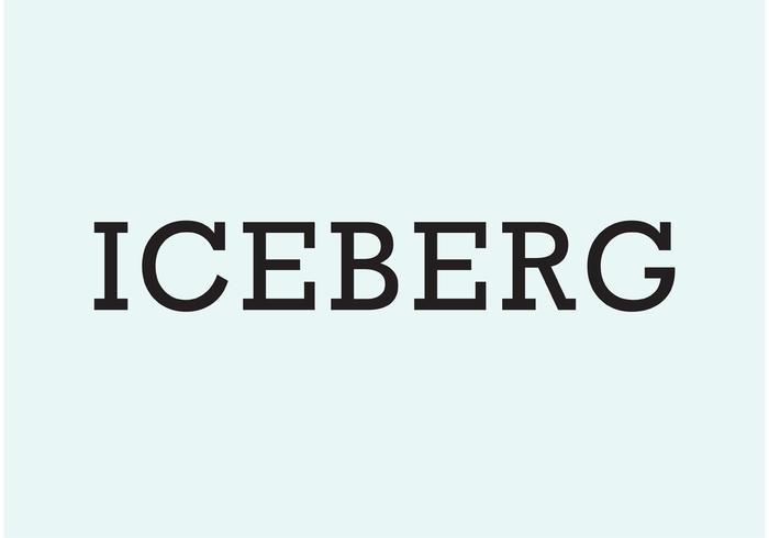 Logotipo de Iceberg vector