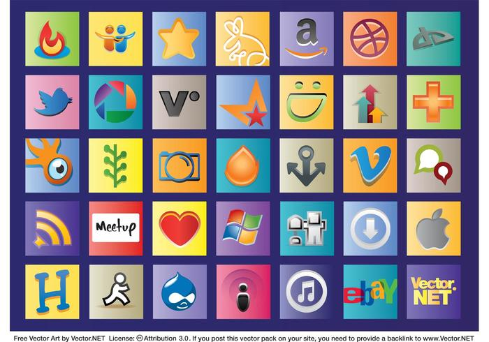 Social Web Logos