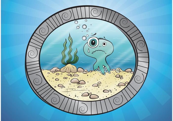 Vektor bläckfisktecknad