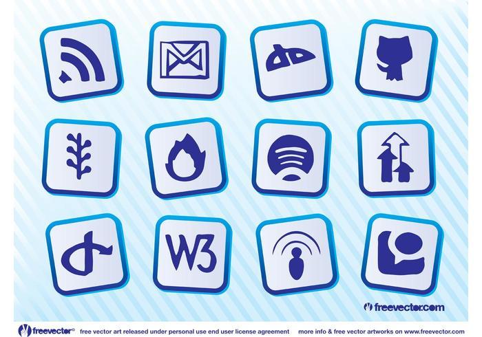 Social Website Vectors