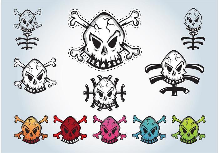 Skulls Vector Graphics