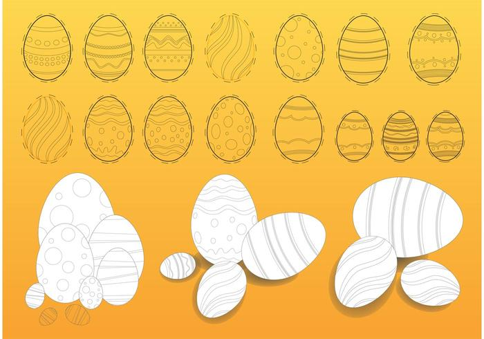 Easter Eggs Illustrations