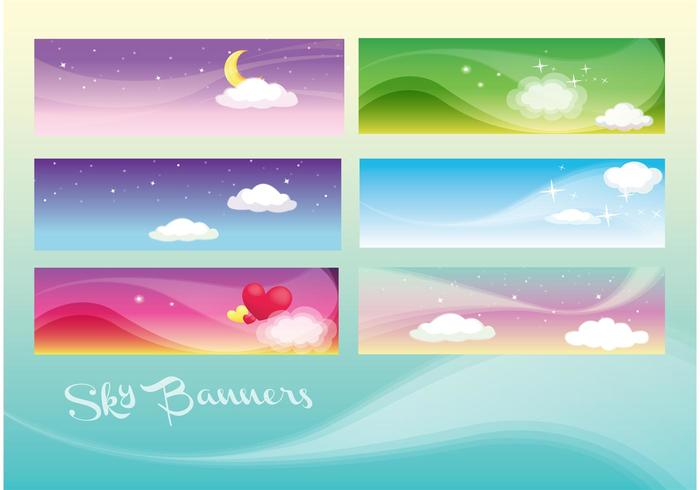 Beautiful Sky Banners