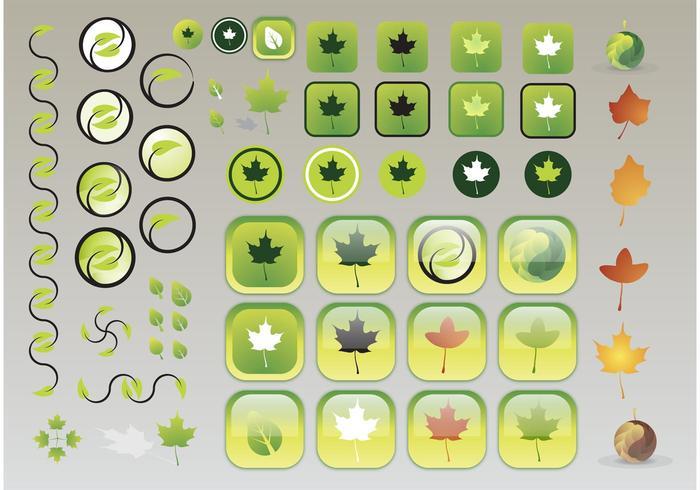 Ícones de folhas