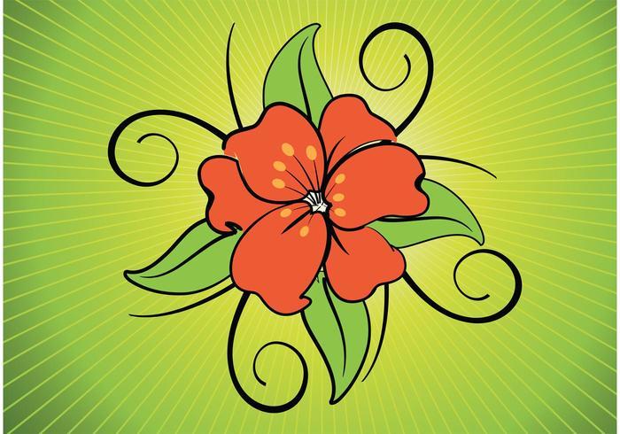 Exotic Flower Vector