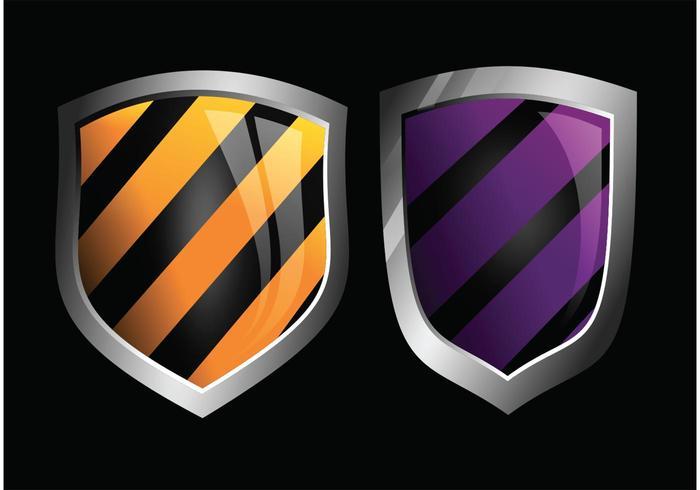 Glossy Vector Shields