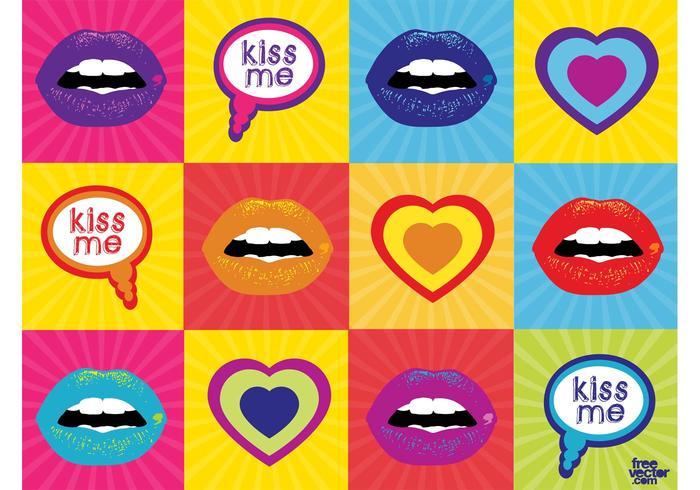 Kisses Vector