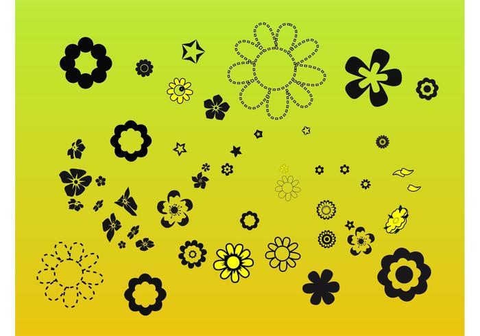 Blommelement Clip Art