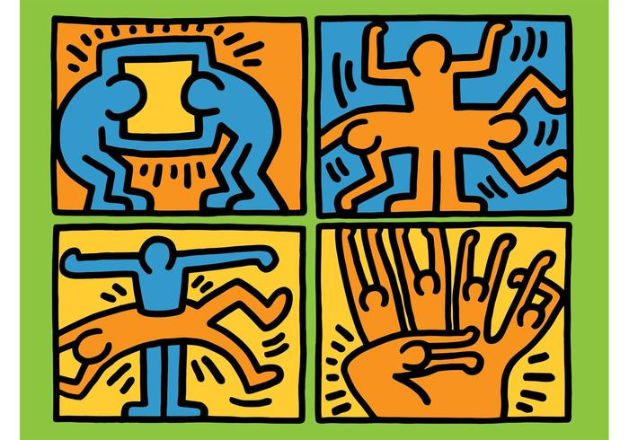 Keith Haring Vector