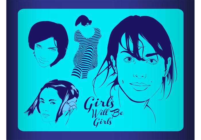Vector Girls Illustrations