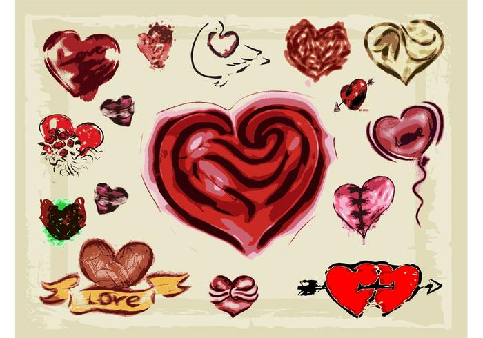 Hearts Illustrations