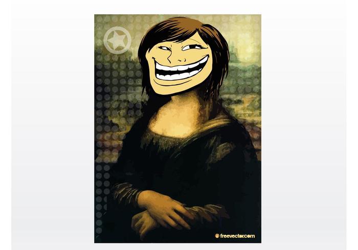 Troll Face Girl Vector