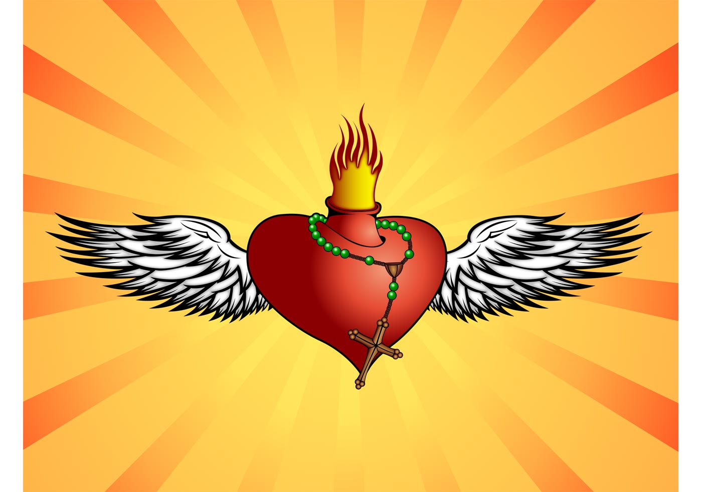 Burning Heart - Download Free Vector Art, Stock Graphics & Images