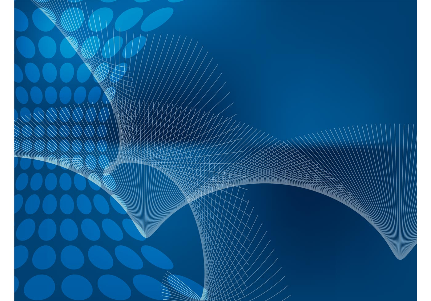3d Blue Abstract Mesh Background Circles Stock Vektor: Blue Abstract Fan Background