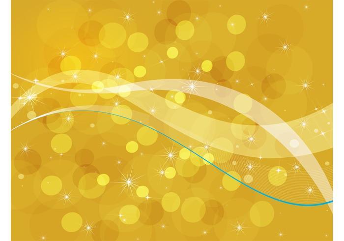 Golden Bubbles Background