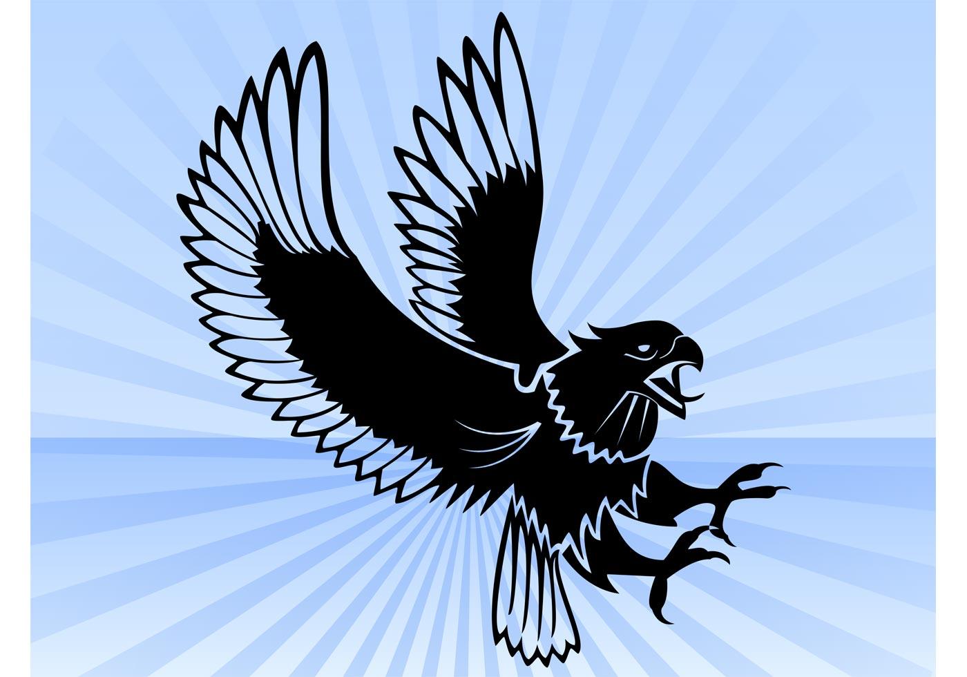 eagle attack vector download free vector art stock