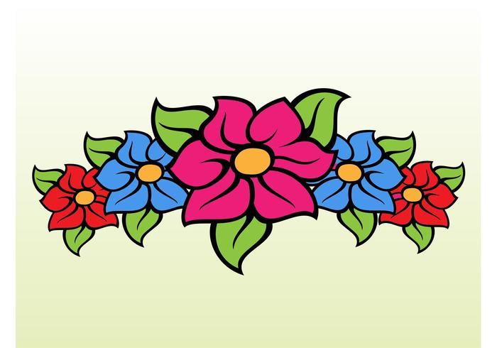 Floral Band Cartoon