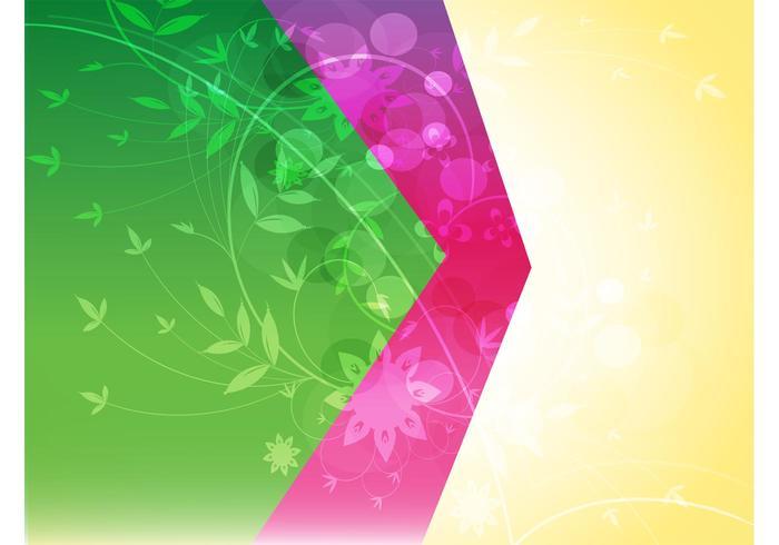 Split Color Floral Background