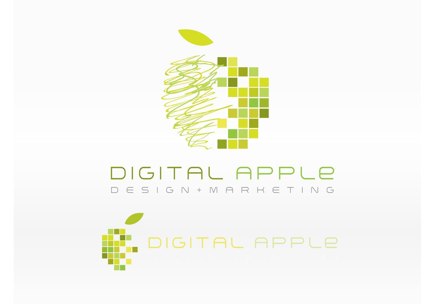 digital logo free vector art