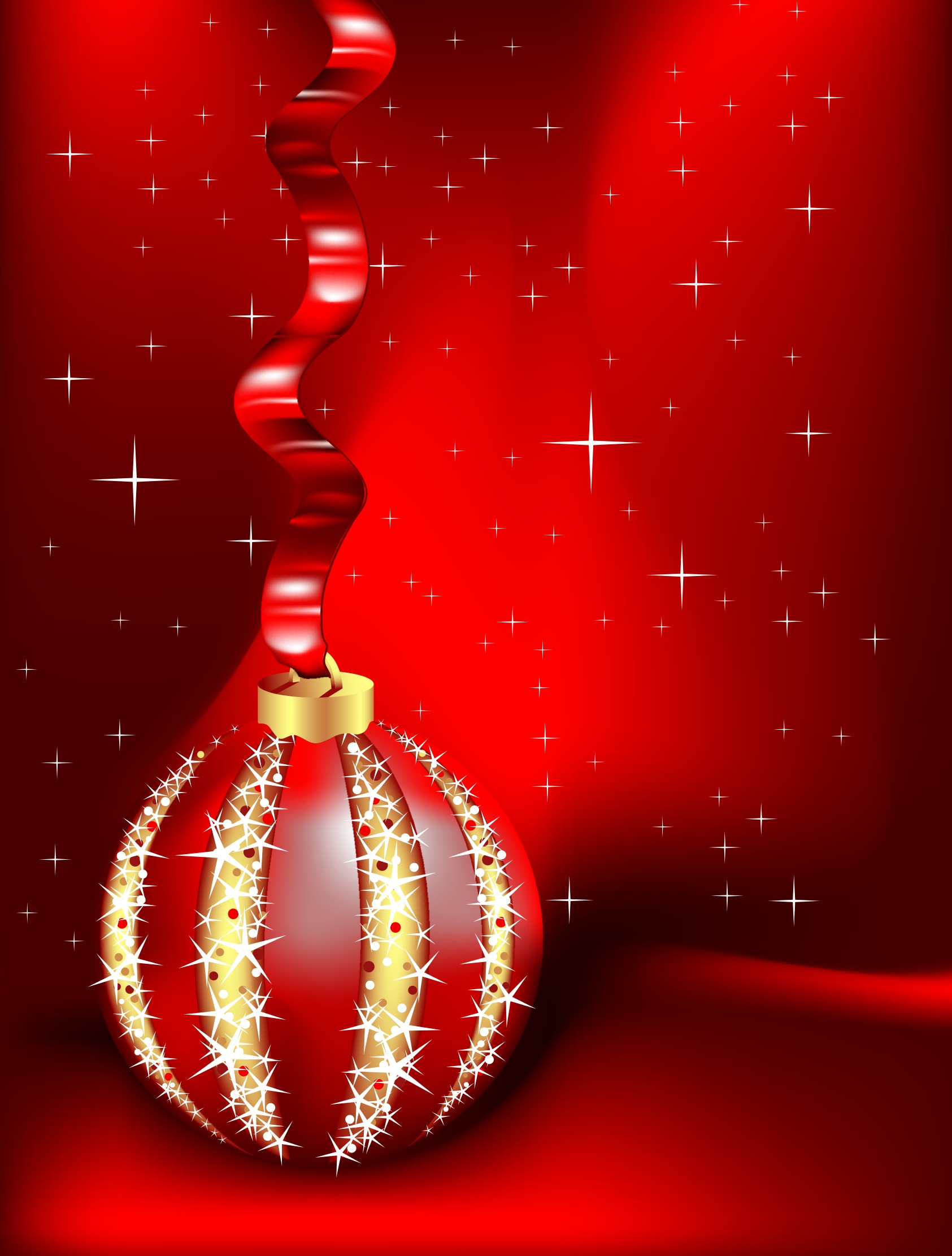 red christmas ornament background download free vector