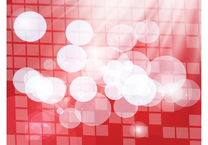 Red Grid Circles Backdrop