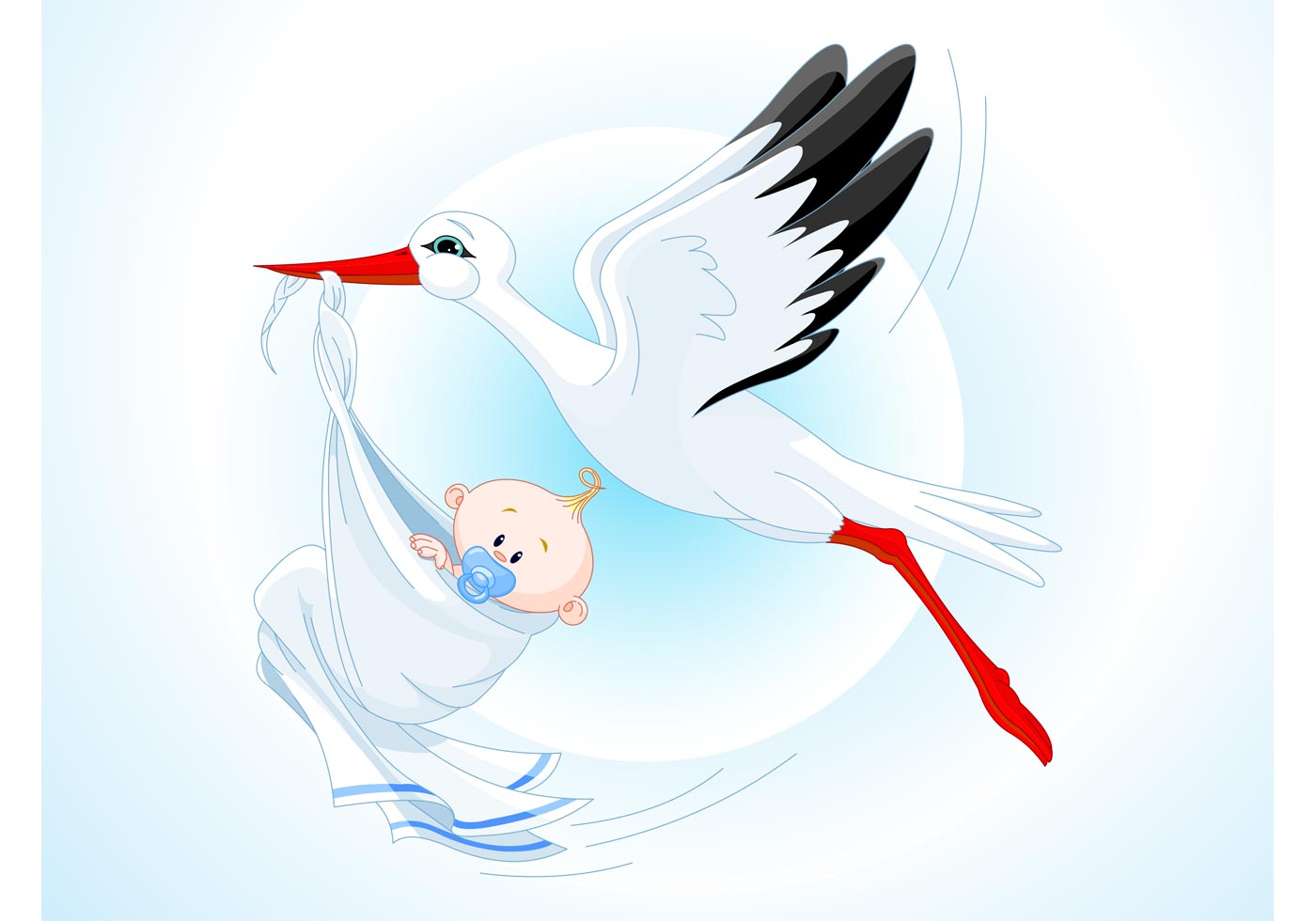 Storch Baby Karikatur Kostenlose Vektor Kunst Archiv