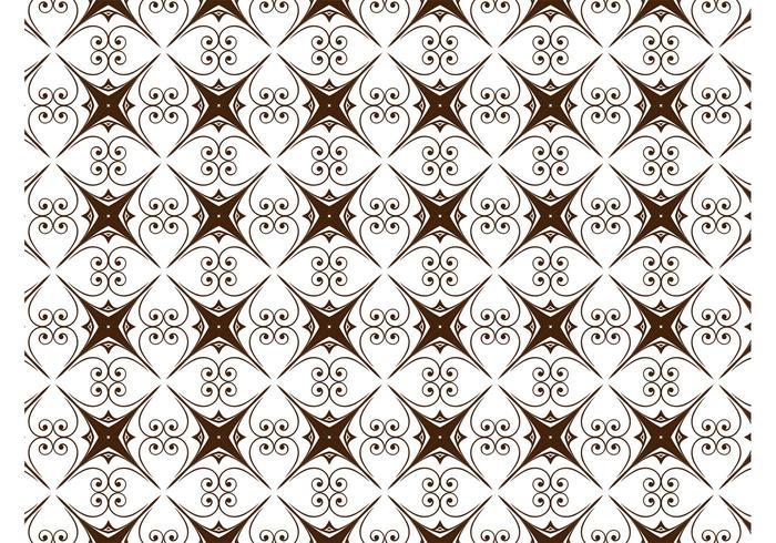 Star Scroll Pattern