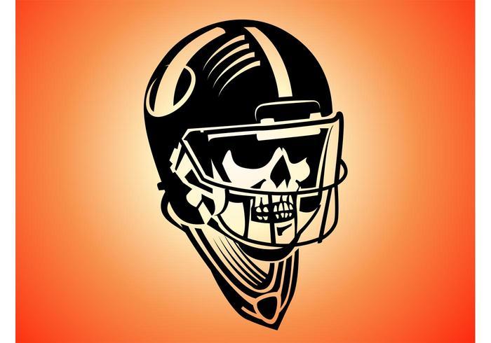 Skeleton Football Player