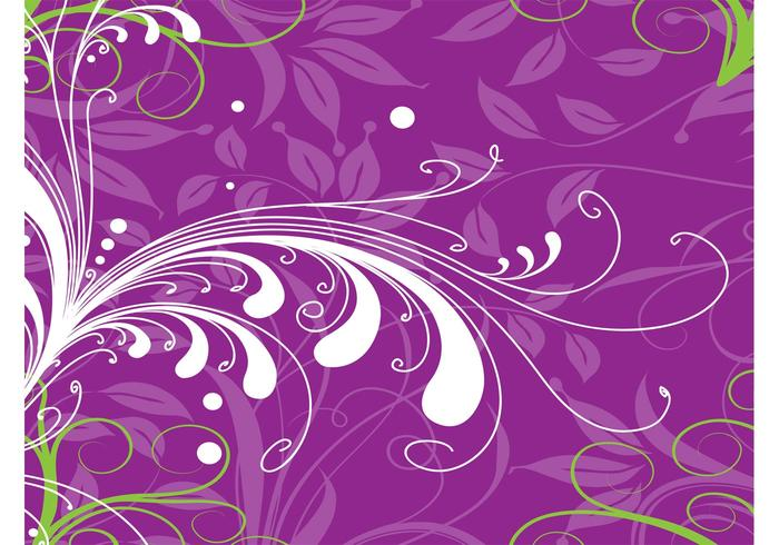 Purple Plants Background