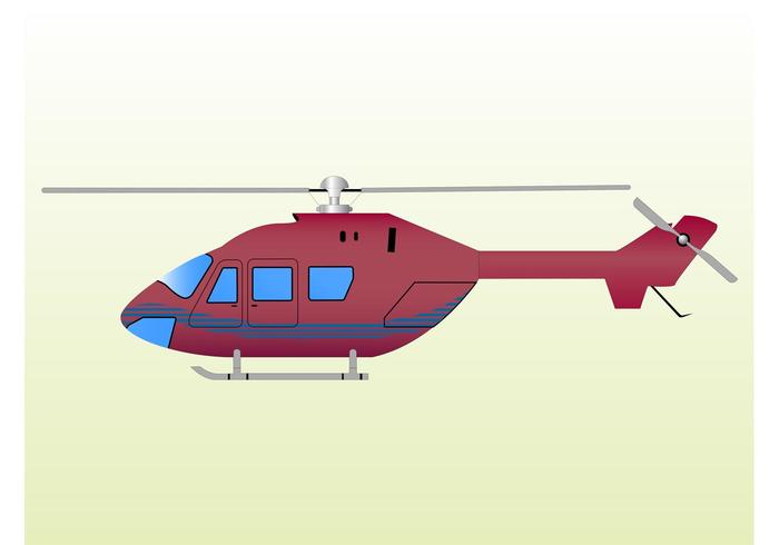 Red Helicopter Clip Art