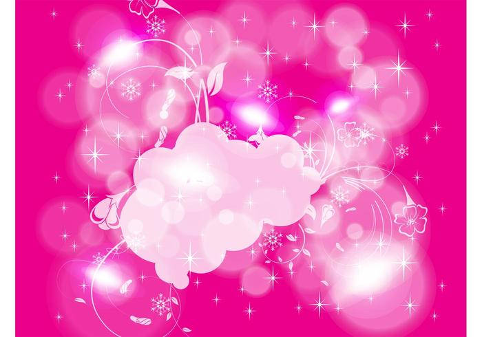 Pink Winter Background