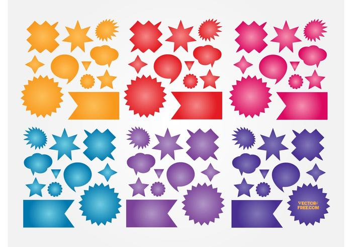 Colorful Buttons Vectors