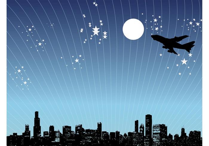 Night City Design Vector