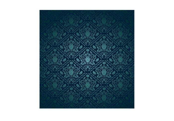 Blue Green Decorative Pattern