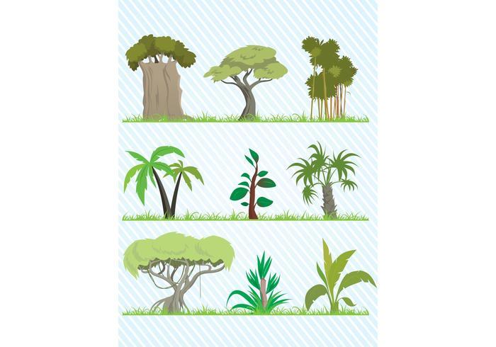 Cartoon Tree Vector Pack