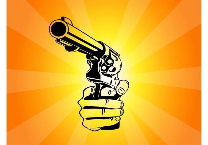 Pointing Gun Vector