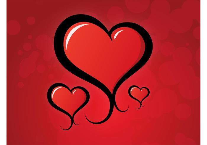 Heart Swirls Vector