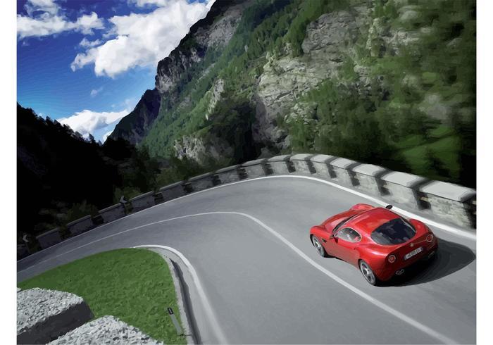 Driving Alfa Romeo Spider