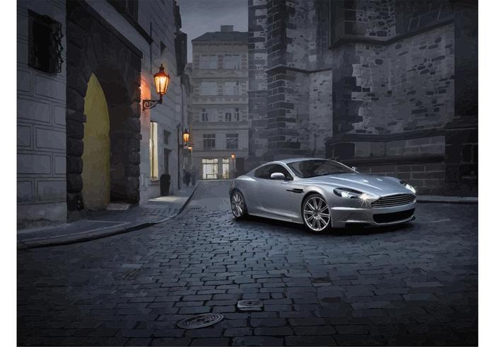 Silber Aston Martin DBS