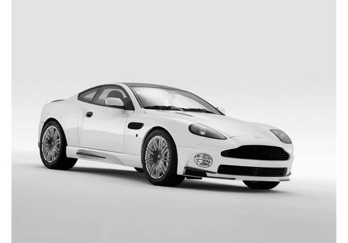 Blanco Aston Martin Vanquish vector