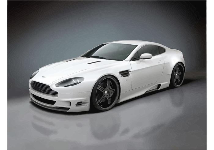 White Aston Martin V12 Vantage