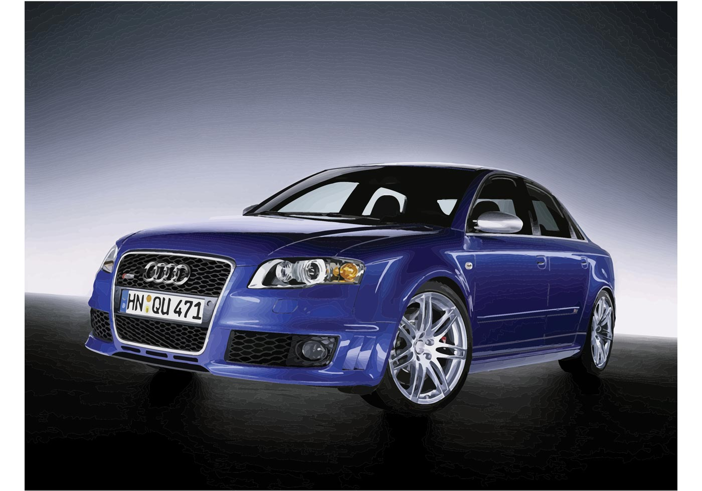 Brown Automotive Group >> Blue Audi S4 - Download Free Vectors, Clipart Graphics ...
