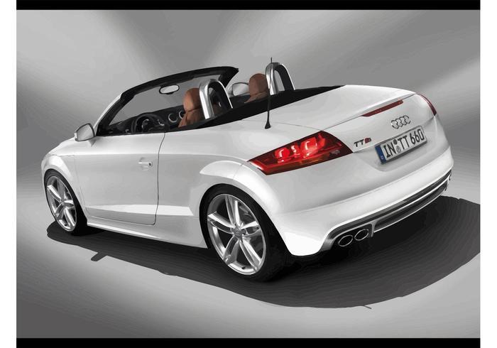 White Audi TTS Cabrio Roadster