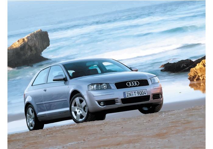 Audi A3 on the Beach