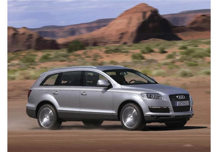 Papier peint Audi Q7 argenté