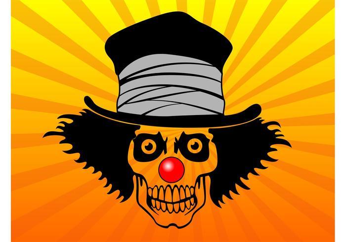 Top Hat Skull Vector