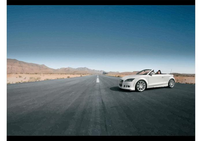 Tuned White Audi TT Cabrio